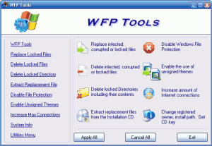 WFP Tools 1.0 - náhled