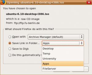 Save Link in Folder 1.4.2 - náhled