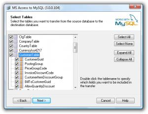 Access To MySQL 3.0.0.108 - náhled