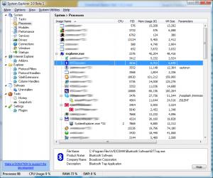 System Explorer 7.0.0 - náhled