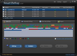 IObit SmartDefrag 4.4.0 - náhled