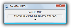 SendTo MD5 1.3 - náhled