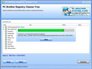 PC Brother Registry Cleaner Free 1.5.1.52 - náhled