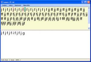 Psaní na PC klávesnici 1.0.3.0 - náhled