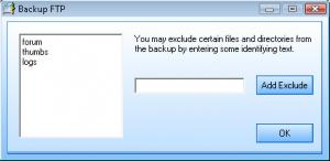 Backup FTP - náhled