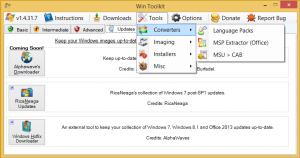 Win Toolkit 1.7.0.14 - náhled