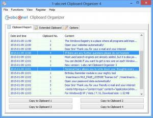 1-abc.net Clipboard Organizer 4.00 - náhled