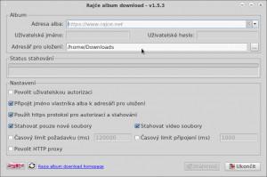 Rajce album downloader - náhled