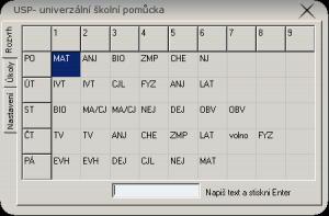 USP - Univerzální školní pomůcka 1.0.1.0 - náhled