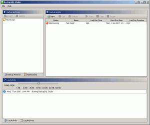 BackupSQL Studio 1.0.4.1 - náhled