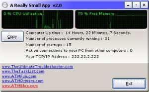 A Really Small App 2.0 - náhled