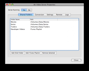 Air Video Server 2.4.3 - náhled