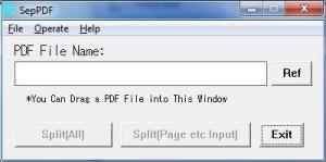 SepPDF 2.97 - náhled