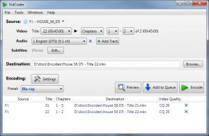 VidCoder 2.49 - náhled