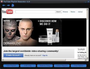 YouTube Playlist Generator 1.5 - náhled