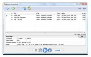 AV Audio Converter 2.0.2 - náhled