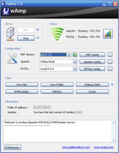 UwAmp 3.0.2 - náhled