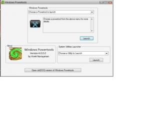 Windows Powertools 4.0 - náhled