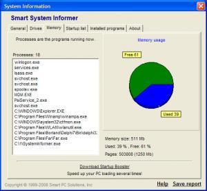 Smart System Informer 2.1 - náhled