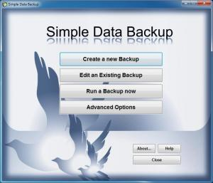 Simple Data Backup 8.5 - náhled