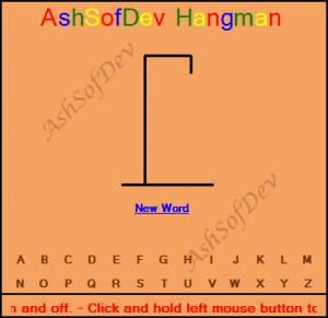 AshSofDev Hangman 1.0 - náhled
