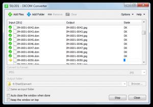 DICOM Converter 1.1.0 - náhled