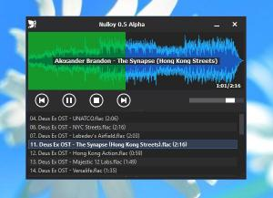 Nulloy Music Player 0.7.0.1 - náhled