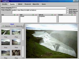 FamilyView 2.1 - Popisky fotografií - náhled