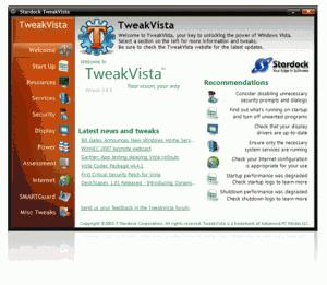 TweakVista Free 1.5 - náhled