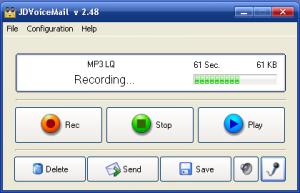 JDVoiceMail 2.53 - náhled