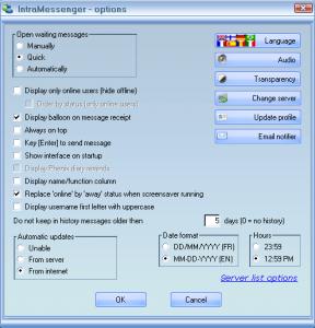 IntraMessenger - náhled