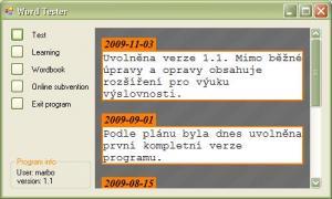 Word Tester 1.2 - náhled
