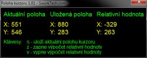 Zjištění polohy kurzoru 1.01 - náhled