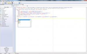 HTML editor Yugie 5.4 - náhled