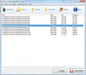 Weeny Free Image to PDF Converter 1.1 - náhled