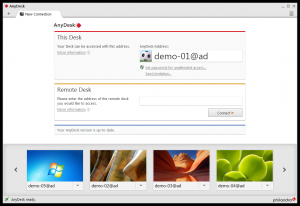AnyDesk 2.5.0 - náhled