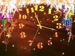 Christmas Promise Clock Screensaver 3.1 - náhled
