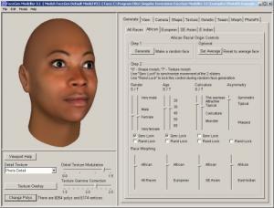 FaceGen Modeller 3.3 - náhled