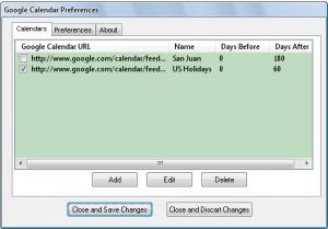Google Calendar Client 1.8 - náhled