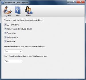 TweakNow DriveShortcut 1.2.0 - náhled