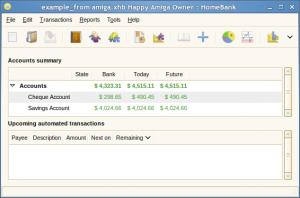 HomeBank 5.1.8 - náhled