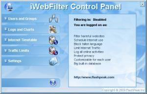 iWebFilter 2.0 - náhled