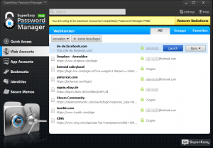 SuperEasy Password Manager PRO 1.0.0 - náhled