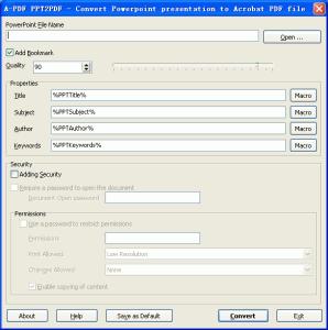 A-PDF PPT2PDF 1.0.1 - náhled