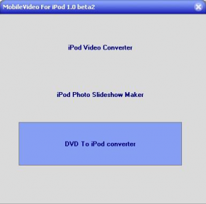 MobileVideo For iPod 2.0 - náhled