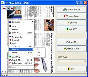STP - Scan To PDF 1.20 - náhled