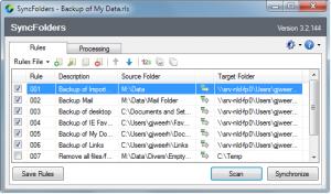 SyncFolders 3.4.073 - náhled