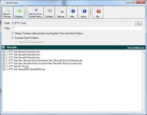 FileToFolder 5.1 - náhled