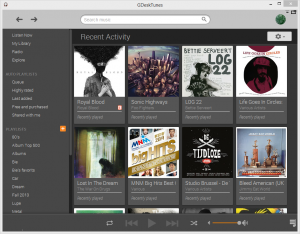 GDeskTunes 0.3.6 - náhled