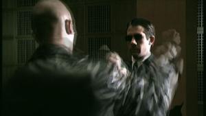 Morpheus bojuje s agentem - náhled